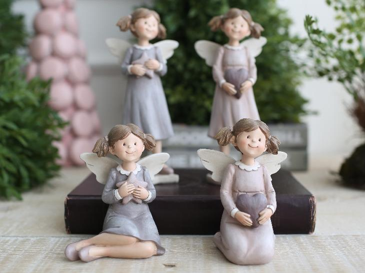 Home accessories brief fashion resin craft decoration desktop angel decorations one piece(China (Mainland))