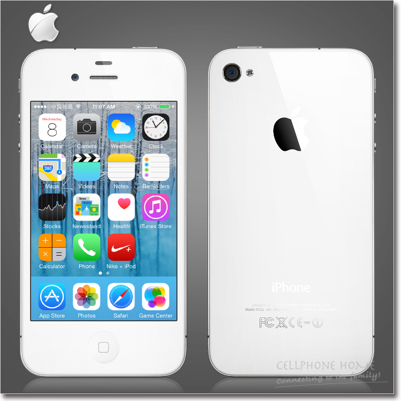 Original iPhone 4 iOS 7 Apple A4 16G Or 32GB ROM 3.5 inches 5MP Camera WIFI GPS Cell Phone Used(China (Mainland))