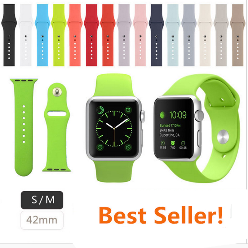 3 in 1 Silicone Band for Apple Watch 42mm Strap with Connector Adapter for iWatch Sports Buckle Bracelet <br><br>Aliexpress