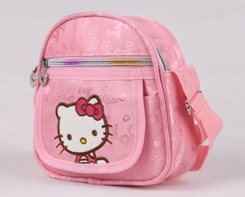 free shipping wholesale 5pcs/lot girl's hello kitty casual bag canvas lovely students' messenger bag