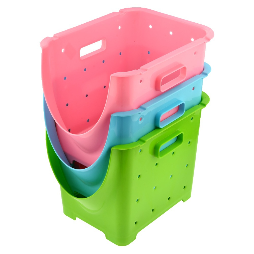 Household Sundries Storage Basket Kitchen Fruit & Vegetable Storage Baskets with Hidden Foldable 3 Colors Feet Free Shipping(China (Mainland))