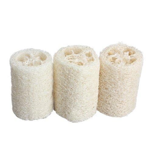 IMC Wholesale 3PCS Natural Loofah Bath Body Shower Sponge Scrubber Length: 10-12.5cm(China (Mainland))