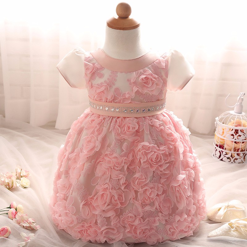 Baby Girls Dress 2016 New Fashion Kids Princess Birthday Party Tulle Wedding Dresses Christmas Dress Newborn Infant Clothes 0-2Y-5