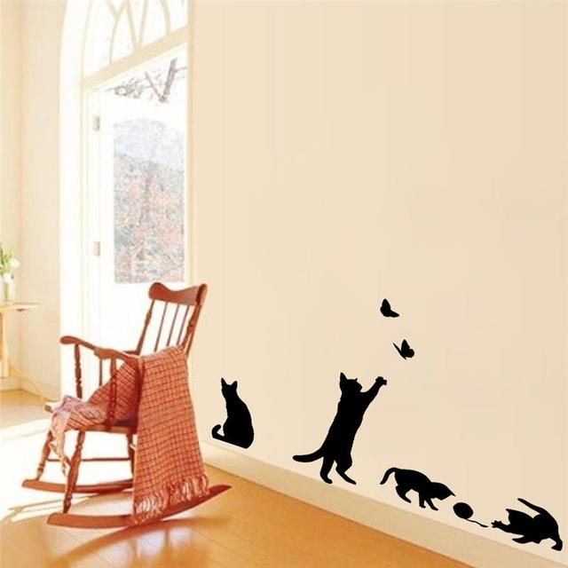 playing cats wall sticker cat wall stickers whyrll com