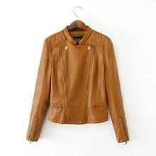 Brand Leather Jacket 2015 New Autumn Slim Punk Jacket Pu Women Biker Jacket Veste Cuir Femme Z Coats Leather Blazer Women(China (Mainland))