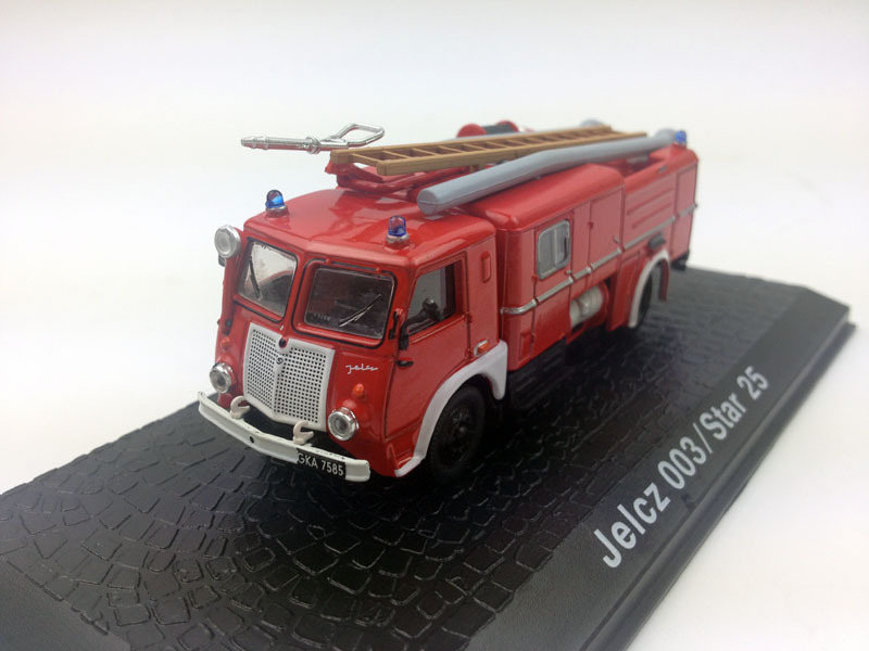 Atlas 1:72 Jelcz 003/Star 25 Fire Engine Diecast Metal Model(China (Mainland))