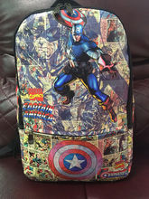 The Captain America Comics Avengers Leather Backpack School Travel Book Bag Hot(China (Mainland))