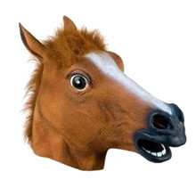 ANGRLY Novelty Creepy Horse Halloween Head latex Rubber Costume Theater Prop Party Mask Offering Discounts silicone mask(China (Mainland))