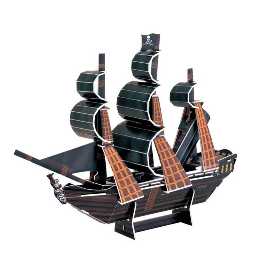 3D Puzzle Boat The Black Pearl Ship Paper Model Jigsaws DIY Educational Children Kids Assemble Toy Gift Decor(China (Mainland))
