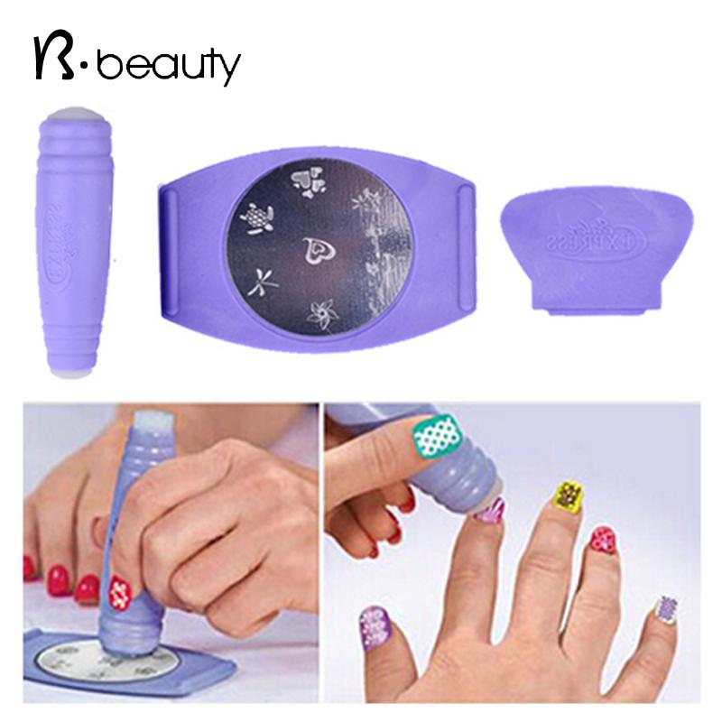 Salon Express Pro Nail Art Stamping,Nail Print Gel Polish Design Plates Stamper Stencil Set,TV Product Manicure Nail Templates(China (Mainland))