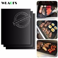 REAL WALFOS BBQ mat SET OF 2 0 2mm Thick ptfe Barbecue Grill Mat non stick