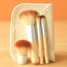 1set/4pcs Bamboo Elaborate Stipple Foundation brushes set eyeshadow Blending Pencil Concealer brush Makeup tool Cosmetic