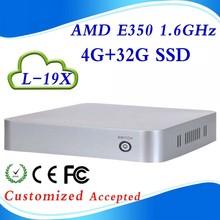 Hot sale AMD E350 L-19X mini computer all in one pc mini pc  support  Windows 7/linux /win 8 4g ram 32g ssd(China (Mainland))