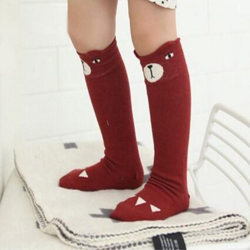 1Pair cotton bear design stoddler knee high baby socks girls/boys leg warmers knee socks for kids Magic Sock<br><br>Aliexpress