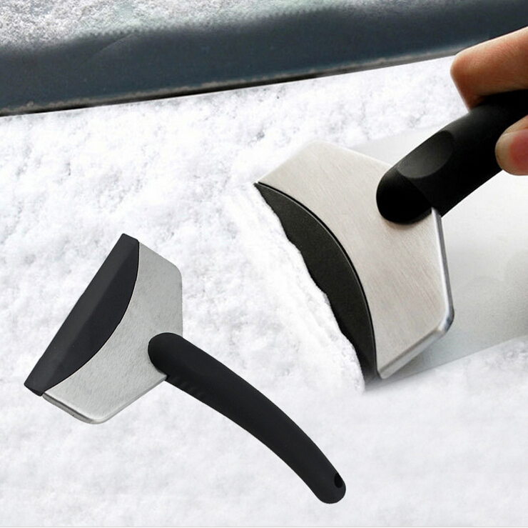 2PCS Vehicle Car Stainless Steel Remove Snow Shovel Scraper Defroster Wovel Spade Ice Shovel Board Brush Windshield Clean Tool(China (Mainland))