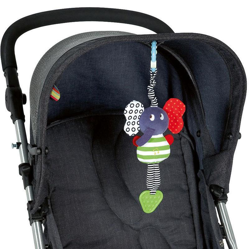 2016 Baby Girl/Boy Toys Stroller/Bed Hanging Elephant/Elephant Handbell Rattle/Mobile Teether Education Stuffed/Plush Kid Toys(China (Mainland))