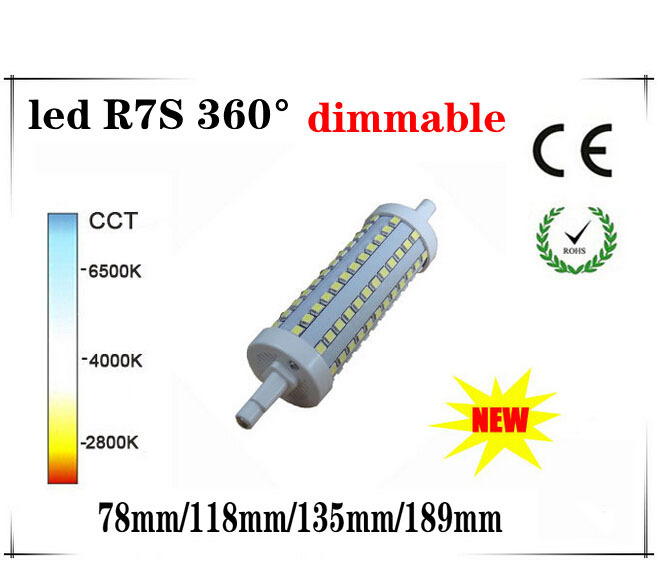 led r7s 118mm dimmable 360 degree r7s led 360 135mm 189mm r7s led 78mm 360 smd2835 J78 R7S lamp perfect replace halogen lamp(China (Mainland))