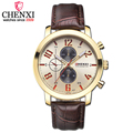 CHENXI Brand New Men s Waterproof Watch Quartz Leather Fashion Leisure Wristwatch The Man Clock Gift