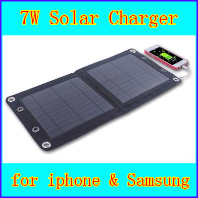 7W 5.5V Portable Folding Foldable Solar Panel Sun Light Powered Mobile Cell Phone Battery Camping Charger & Voltage Controller(China (Mainland))