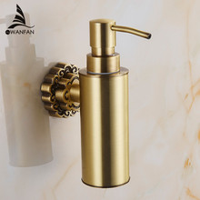 Wall Mounted Carving Antique Bronze Finish Brass Material Soap Dispenser /Bathroom Accessories Liquid Soap Dispenser 10704F(China (Mainland))