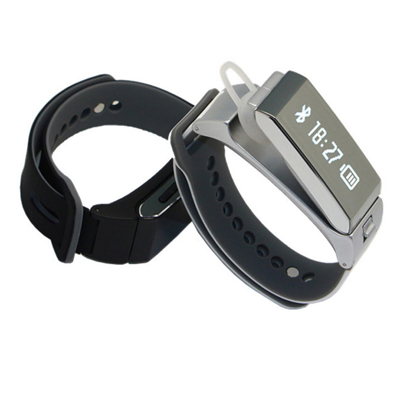 2016 Latest Bluetooth Smart Talkband Bracelet K1 Smartband with Pedometer Calorie Sleep Tracking Bluetooth Earphone Bracelet<br><br>Aliexpress