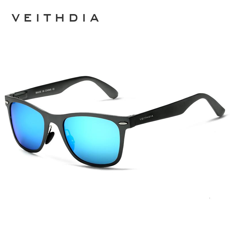 VEITHDIA Aluminum Magnesium Fashion Men's Mirror Sun Glasses Goggle Eyewear Female / Male Accessories Sunglasses For Women/Men(China (Mainland))