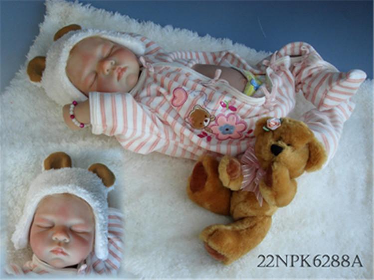 Lifelike Baby Dolls For Children 22 inch 55cm sleeping newborn baby Realistic Soft Vinyl Silicone Reborn Dolls<br><br>Aliexpress