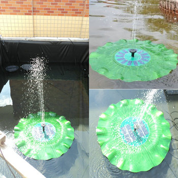 Practical 7V 1.4W Portable Solar Power Decorative Fountain Pond Brushless Water Pump Garden Ornaments