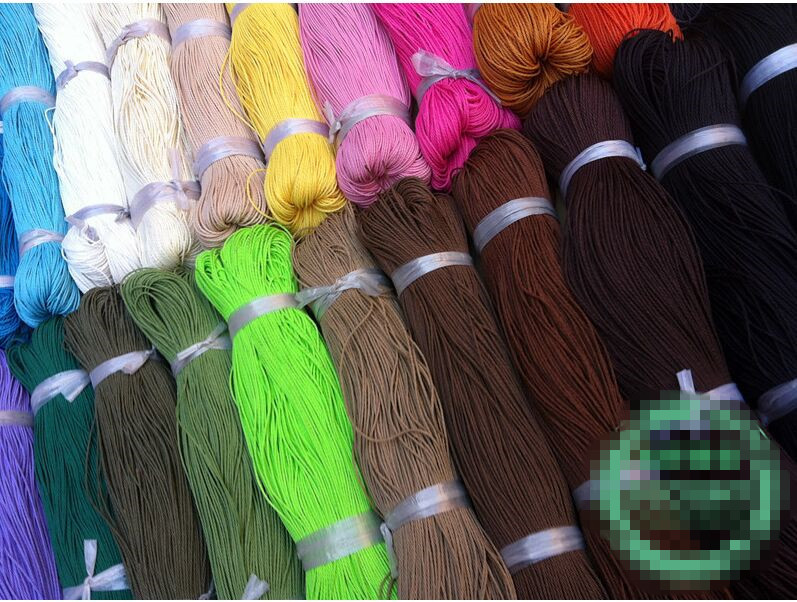 50 Meters Waxed Polyester Cord String Thread 1mm(China (Mainland))