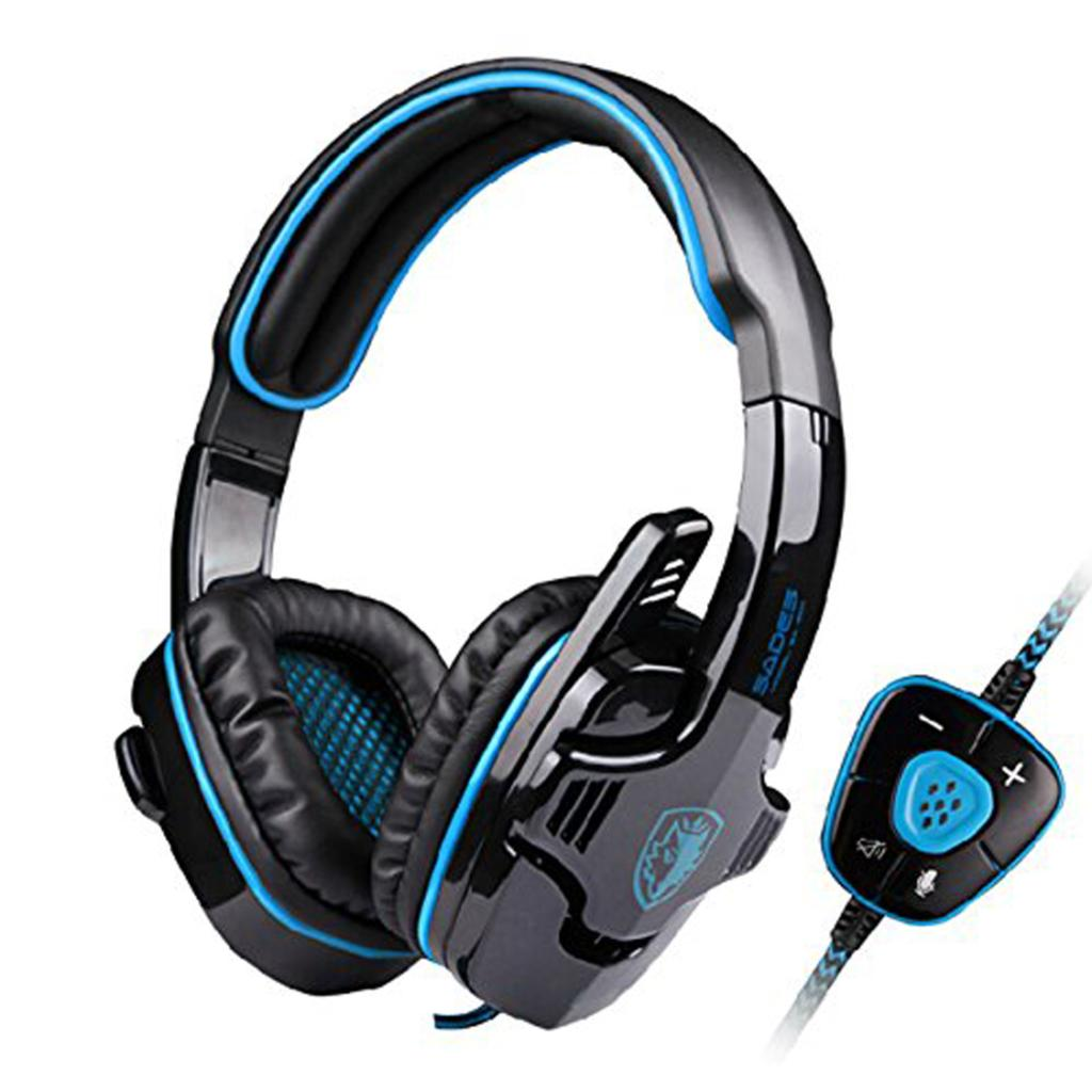 SADES SA-901 Professional 7.1 Surround Sound USB Noise Cancelling Wired Gaming Headset Headphone with Mic for PC Laptop Games<br><br>Aliexpress