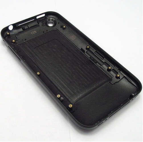 Free shipping Rear back battery door case cover for Apple iPhone 3GS-Black/White(China (Mainland))