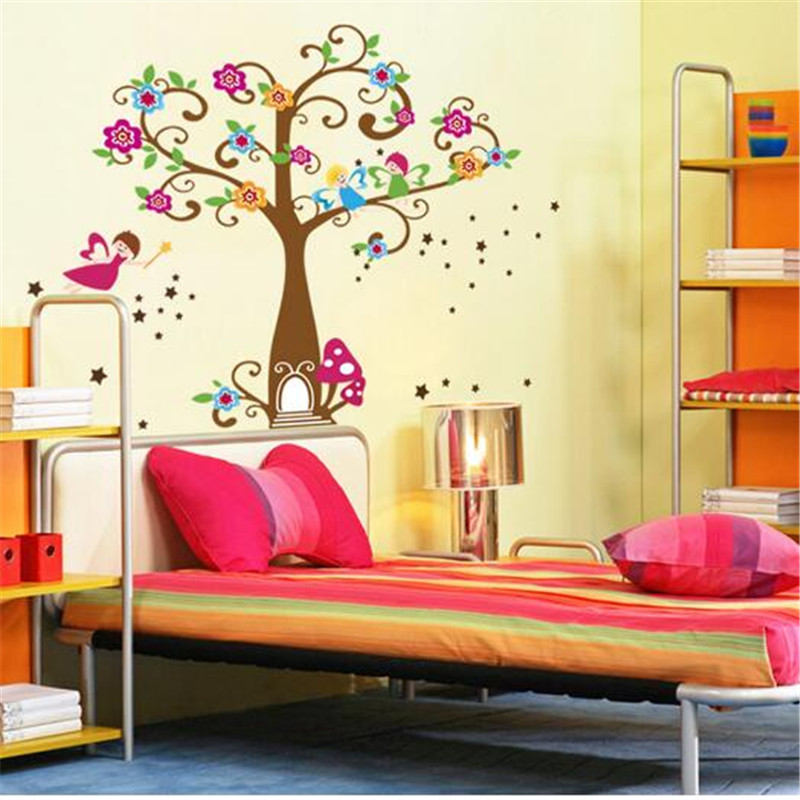 T256 The new Happy Tree wall stickers children's room bathroom decorative stickers waterproof Removable Wall Stickers(China (Mainland))