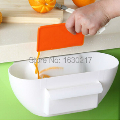 Kitchen organizer acrylic makeup organizer trash can waste container ambry storage box desktop junk boxes plastic storage box(China (Mainland))