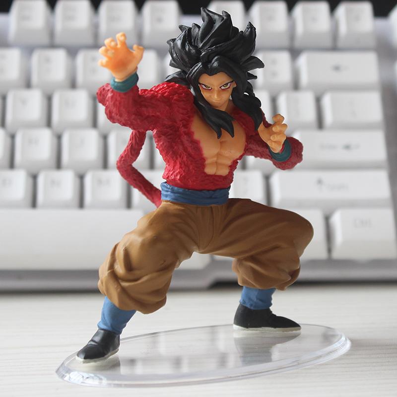 Anime Dragon Ball Super saiyan 4 Goku PVC Action Figure Collectible Model doll toy 11cm(China (Mainland))