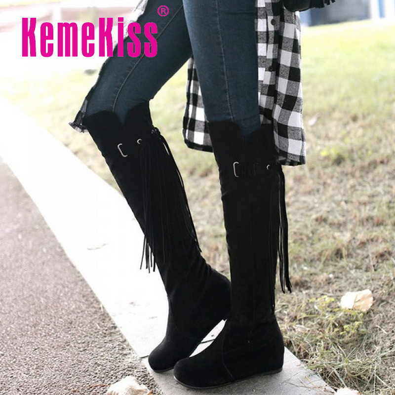 CooLcept Free shipping over knee wedge boots women snow fashion winter warm footwear shoes boot P15282 EUR size 34-47<br><br>Aliexpress
