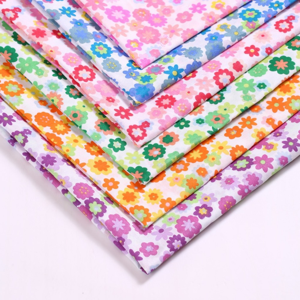 150cm*100cm Gears flowers polyester fabric stretch polyester cloth simulation silk printed colorful fashion material fabric(China (Mainland))