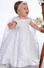 2016 Baby Girl Christening Gowns Baptism Lace Baby Boy First Communion Dresses 0-24month WITH HEADBAND