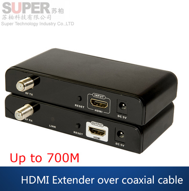 LKV379 HDMI Extender 99 Channels HD 1080P H.264 HDMI to RF HDMI Extender Transmitter & Receiver w/ CATV spliter(China (Mainland))