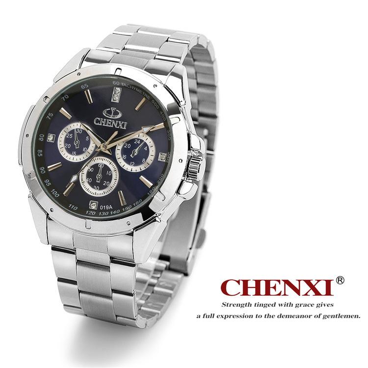 Men Casual Watches Luxury Brand CHENXI Full Steel Band Quartz Dress Wrist watches Lover's Gift Watches waterproof FreeShipping(China (Mainland))