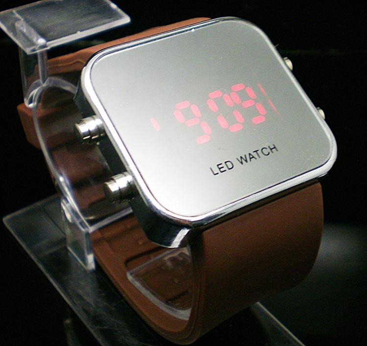 Гаджет  FREE Shipping wholesale fashion  Silicone Led Digital watch, LED mirror  wrist watch  LE21 None Часы