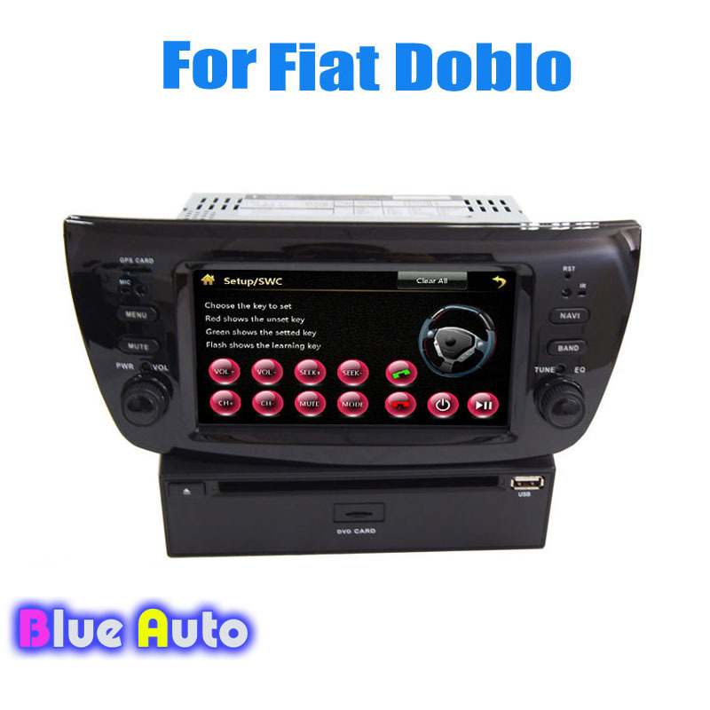 Wince Car Radio Receiver Support 3G DVD GPS Dual Zone SWC Bluetooth HD TV Blue&Me Video Audio For Fiat Doblo/Opel Combo(China (Mainland))