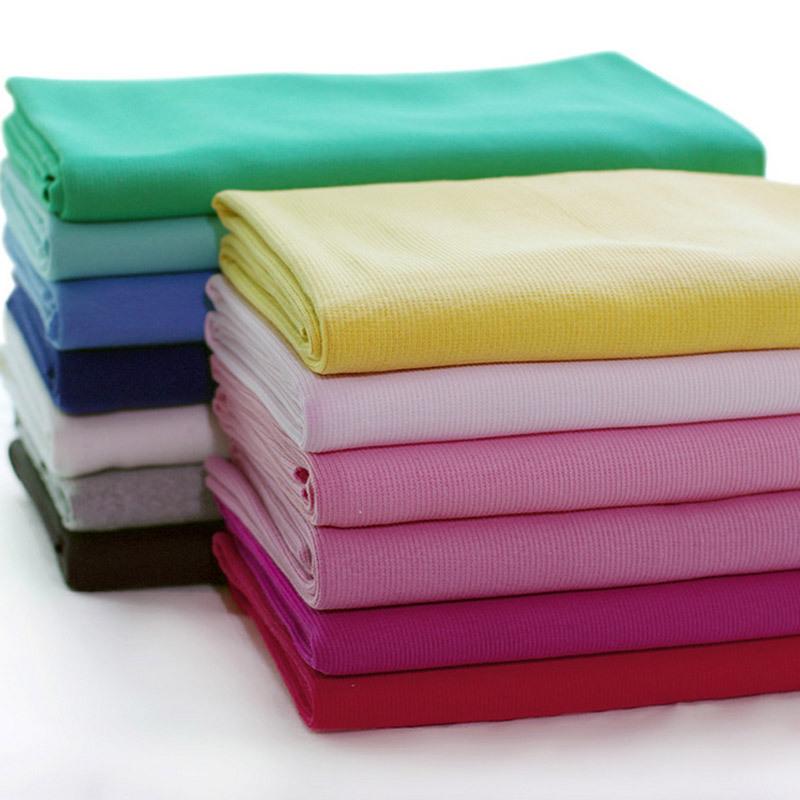 50*120CM Knit Jersey Cuff Waistband Welt Cuffing Rib Fabric Lycra Stretch Cotton Sportswear 9-006(China (Mainland))