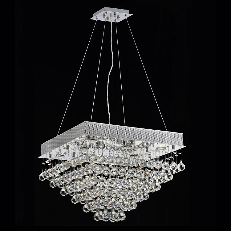 Chandelier Lights Contemporary Lighting Dining Room K9 Crystal Durable Base Pyramid Square Design Hanging Free Shipping &(China (Mainland))