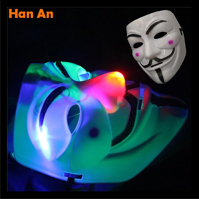 Luminous mask Cartoon lamp Children Lights Gift Lamp Adult flash Toys Holiday Lights Performances lamp Light wholesale(China (Mainland))