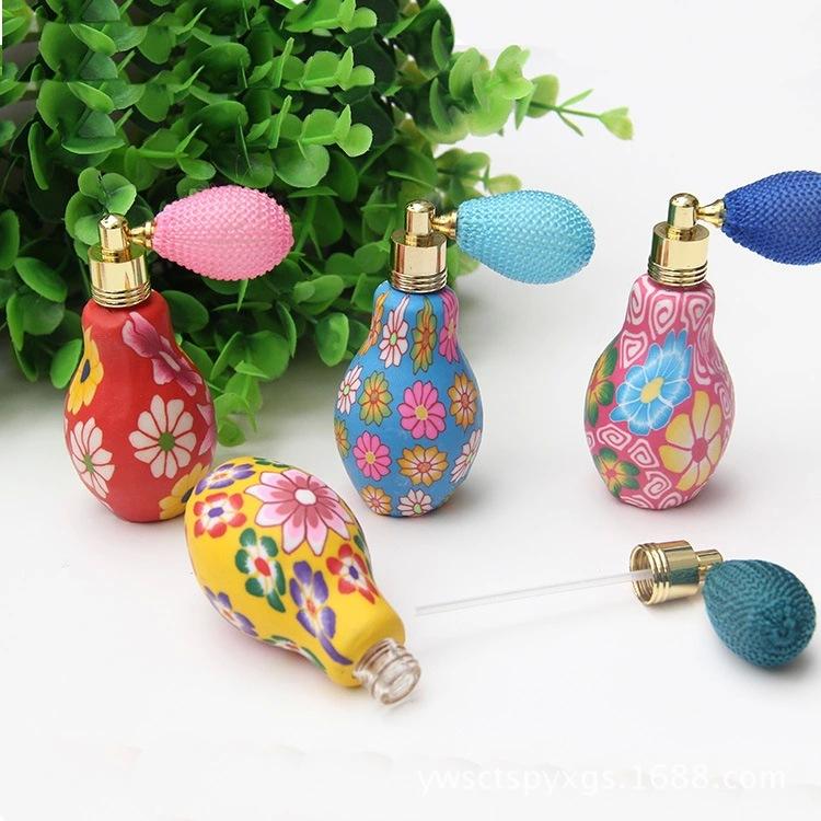 20ML Perfume Bottle Polymer Clay Head Airbag Trade Vintage Perfume Bottle Packing Bottle(China (Mainland))
