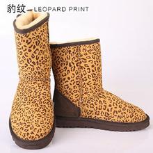INOE Clásico de mitad de la pantorrilla de cuero de piel de oveja genuina piel de oveja de verdad forrado invierno cargadores de la nieve para las mujeres zapatos de invierno a prueba de agua negro(China (Mainland))