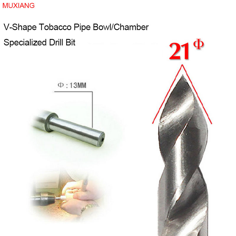 MUXIANG Rosewood & Briar Pipe Drill Bit for the V-shape 21 mm Diameter Smoker Chamber Available for Lathe and Bench Drill jb0028(China (Mainland))