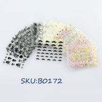 50 x 3D Design Tip Nail Art Sticker Decal Manicure Mix Color Self-adhesive Flower Decal Nail Tips Decorations set SKU:B0172
