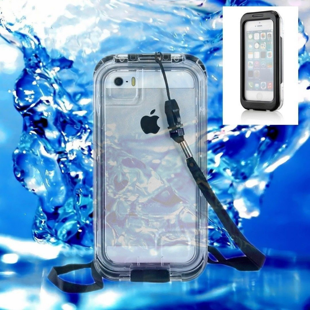For iPhone 5s Waterproof Case Durable Dirt Shockproof Diving Underwater Protective Cover With Strap for Apple iPhone5 5s 2015(China (Mainland))