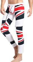 New Thermal Underwear for Men Fashion Union Jack Tights Sexy Basic Trouser Ski Pajama Long Johns Bottoming Pants(China (Mainland))